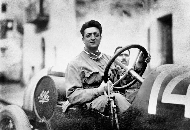 Enzo Ferrari Pilot Alfa Romeo