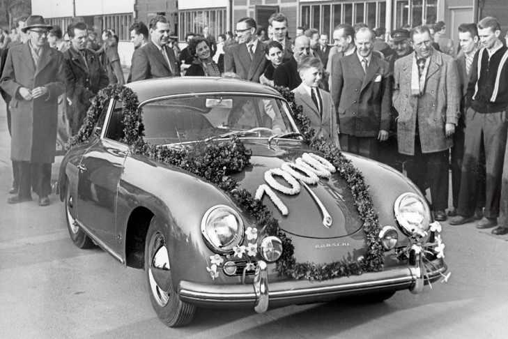 Exemplarul cu nr. 10.000 din modelul Porsche 356